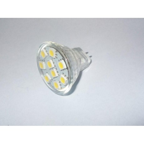 Ampoule led MR11 9 leds smd 5050 blanc chaud
