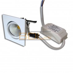 Plafonnier led carré blanc orientable