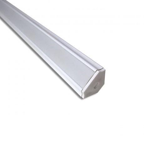 Profil aluminium blanc d'angle BDL1717