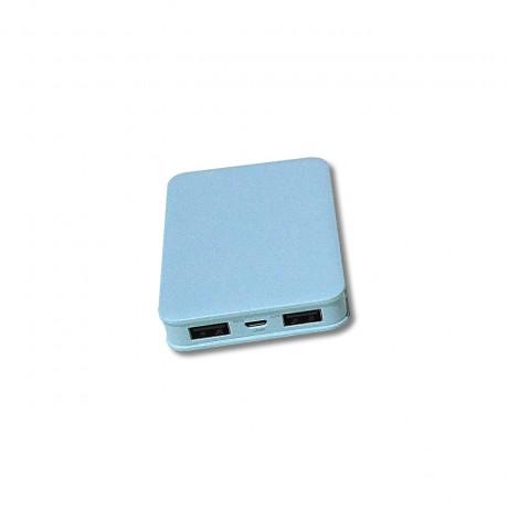 Batterie externe USB bleu 10000 mAh