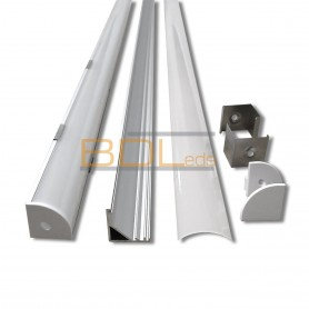 Profil d'angle 20 x 20 pour bande led intérieur ou étanche
