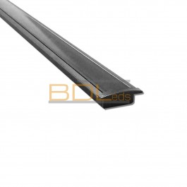 Profilé led BDL2408 encastrable anodisé noir avec diffuseur noir