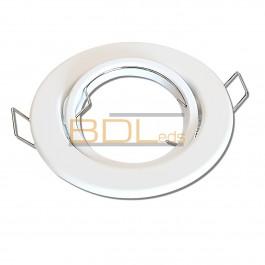 Spot encastrable orientable rond Blanc pour LED
