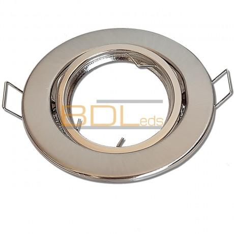 Spot encastrable orientable rond Satin pour LED