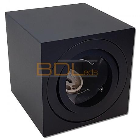 Spot en saillie orientable noir pour ampoule LED GU10/MR16