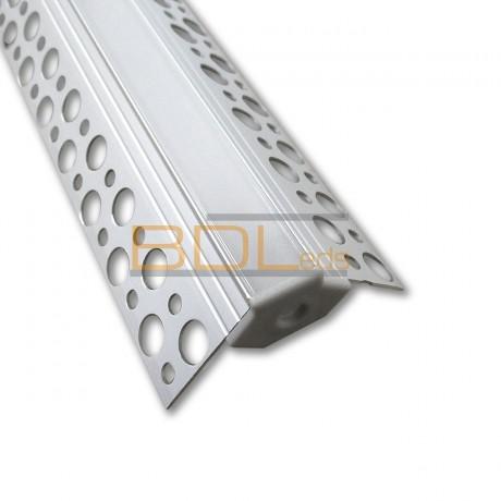 Profilé aluminium pour plaque de plâtre angle sortant BDL5022