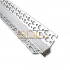 Profilé aluminium pour plaque de plâtre angle entrant BDL4625