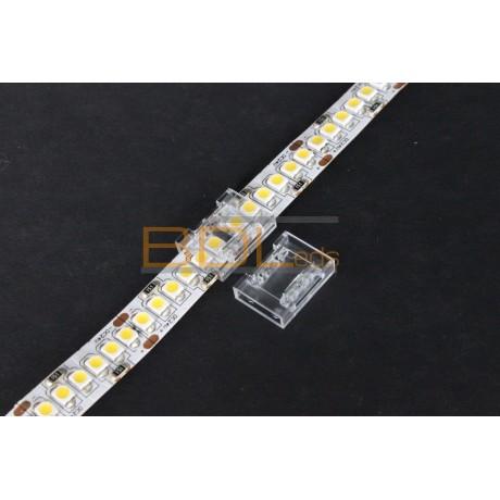 Raccord transparent pour ruban LED haute densité ou COB
