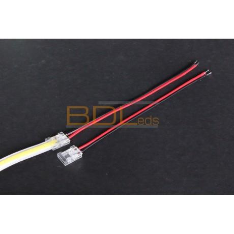 Connecteur transparent pour ruban LED haute densité ou COB