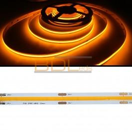 Spectre ruban LED COB jaune 590 nm 24 volts