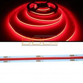 Ruban led COB-FOB rouge 660 nm 24 volts