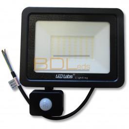 Projecteur LED 50w avec détecteur blanc neutre 4000K