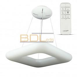 Suspension LED blanc carré 46cm 40W variable