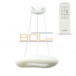 Suspension ronde LED blanc 75 cm 82 W variable