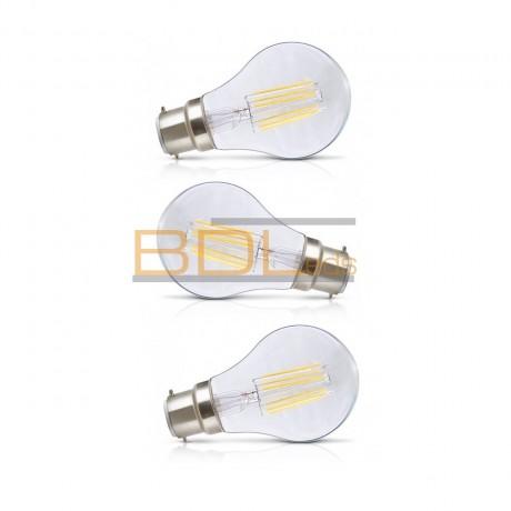 Ampoule LED B22 filament 8W 4000K blister X 3