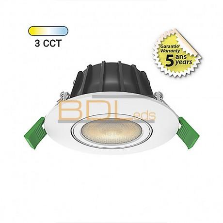 Spot LED CCT 8W 2700/3000/4000K Gradable Orientable 360°