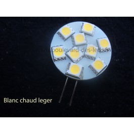 Ampoule g4 9 led blanc chaud leger