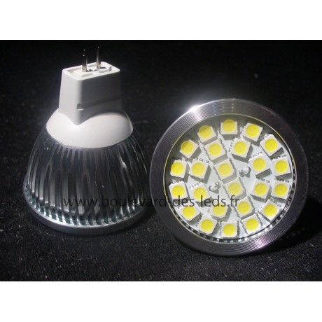 Ampoule led MR 16 24 smd 5050 4500°K