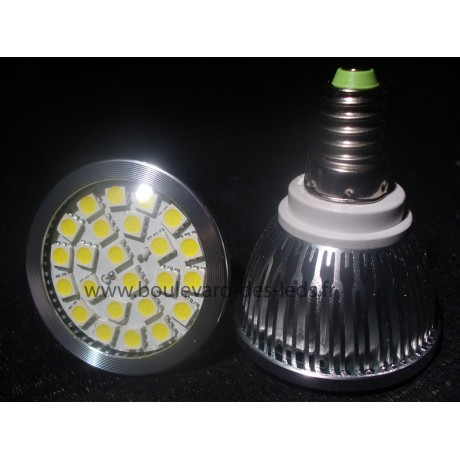 Ampoule led E14 24 SMD 5050 blanc chaud leger