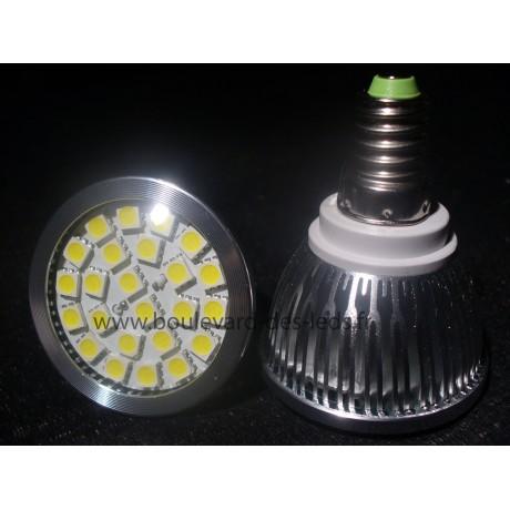 Ampoule led E14 24 SMD 5050 blanc chaud leger