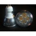 Ampoule led gu10 4*1W 35 à 50 watts