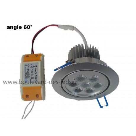 Plafonnier encastrable à LED 7W 60°