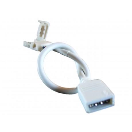 Connecteur Femelle avec clips pour ruban led RGB