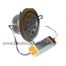 Plafonnier LED 12W à encastrer