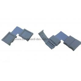 Connecteur à clips d'angle à 90° pour ruban RGB