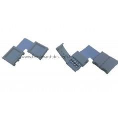 Connecteur RGB à clips d'angle à 90° pour ruban