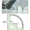 Profilé aluminium 45° pour ruban led 10mm