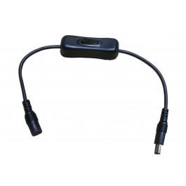 Interrupteur pour ruban led avec connecteur jack mâle et femelle