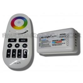 Télécommande et Contrôleur led RGB/RGBW 1 récepteur