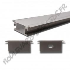 Profilé aluminium large de sol BDL2711