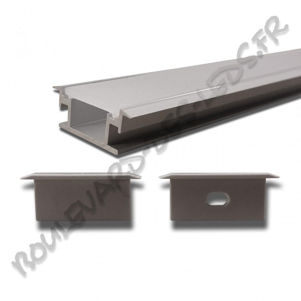 Profil aluminium large de sol bdl2711 - Cache cable sol ...