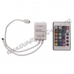 Contrôleur led RGB avec télécommande IR 24 touches