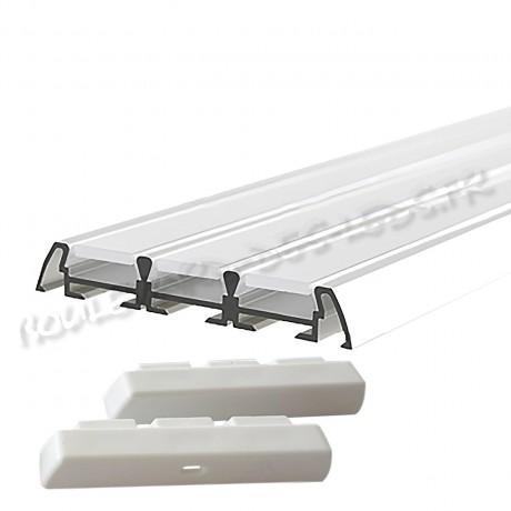 Profilé aluminium 3 bandes pour led BDL6009