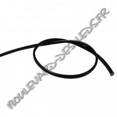 Fil noir plat ovoide bi-polaire 2x0.75mm²