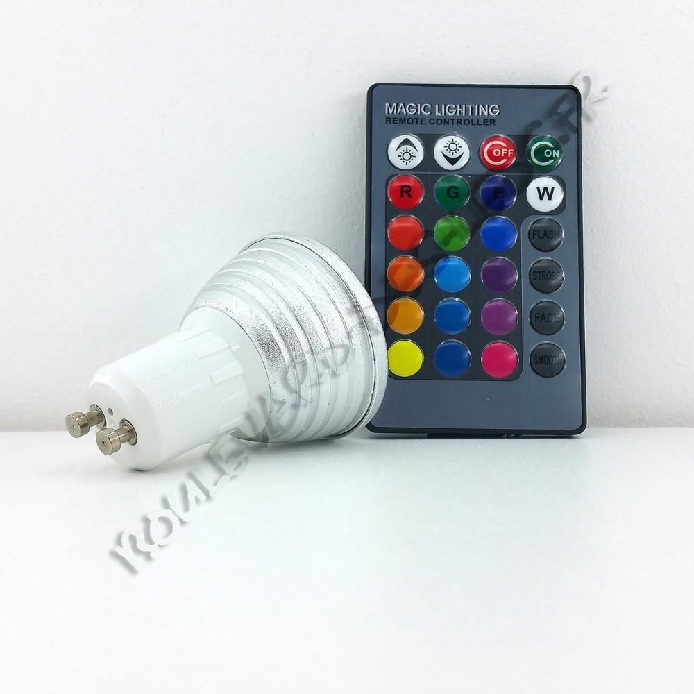 ampoule led rgb gu10 3w. Black Bedroom Furniture Sets. Home Design Ideas