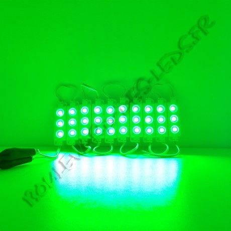 Module LED vert étanche IP65