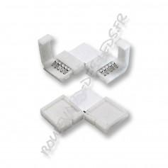 Connecteur angle droit pour ruban RGBW 12 mm