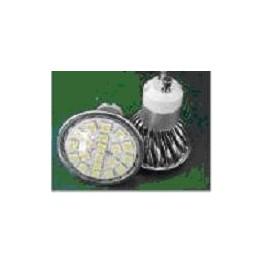 Ampoule led smd GU10 20 leds 5050 blanc chaud