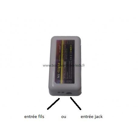 2 types de connectique pour ce variateur LED
