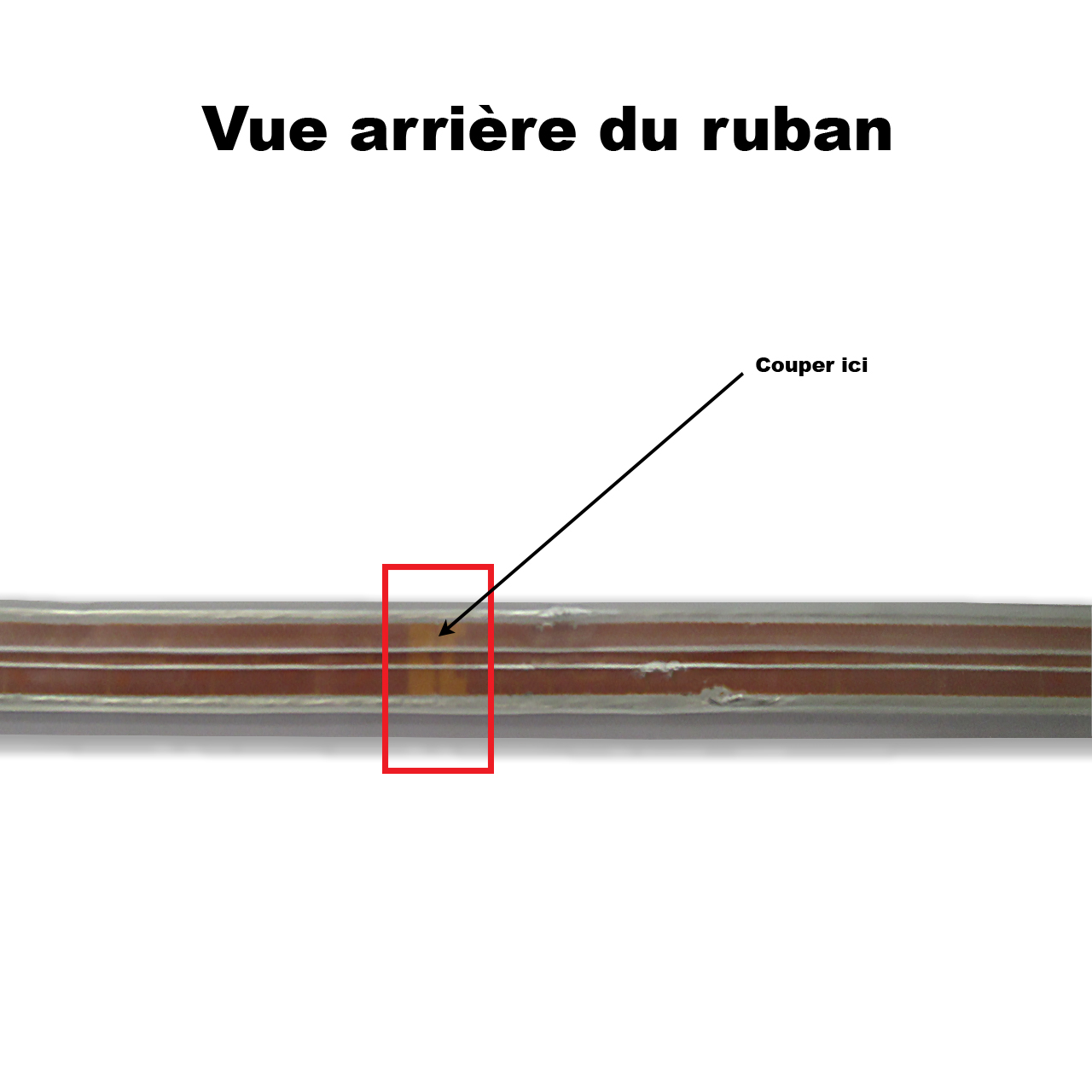 Coupe ruban led