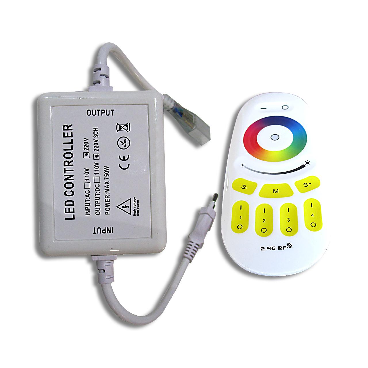 Contrôleur led RGB 220V avec sa télécommande