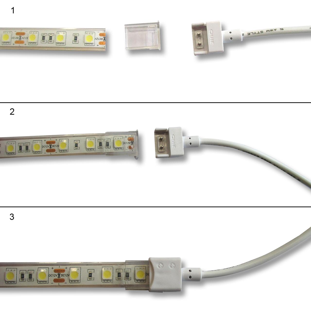 Montage connecteur bandeau led IP68